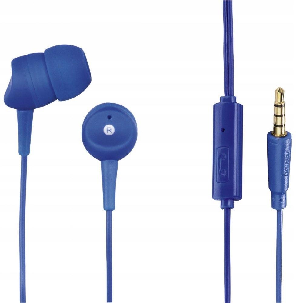 Słuchawki z mikrofonem Basic4Phone niebieskie