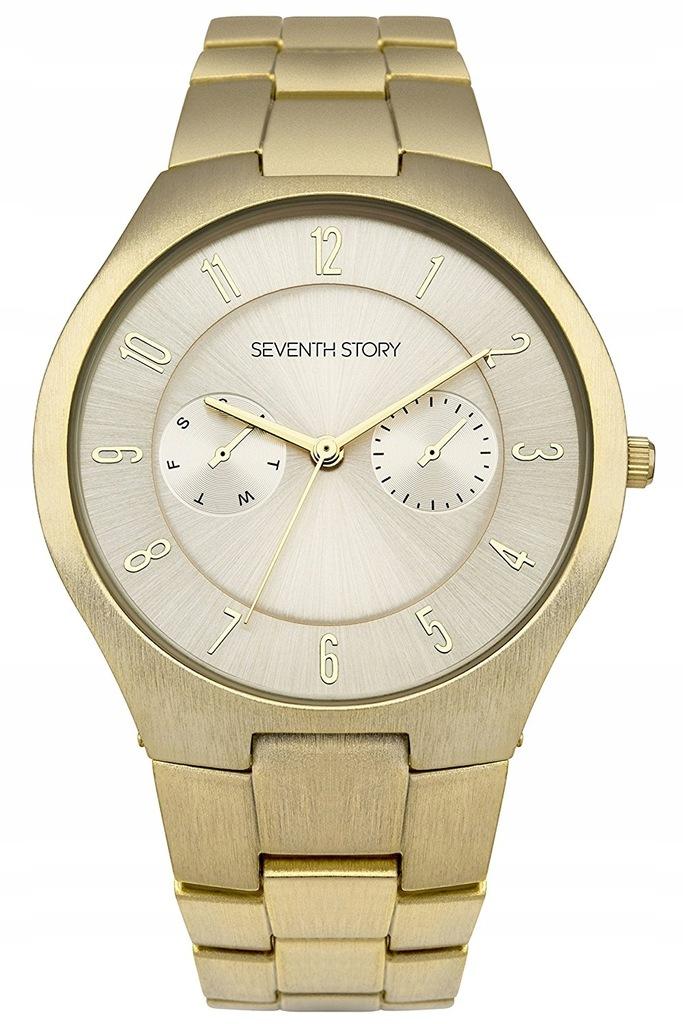 Zegarek SEVENTH STORY SS023GM złoty nowy
