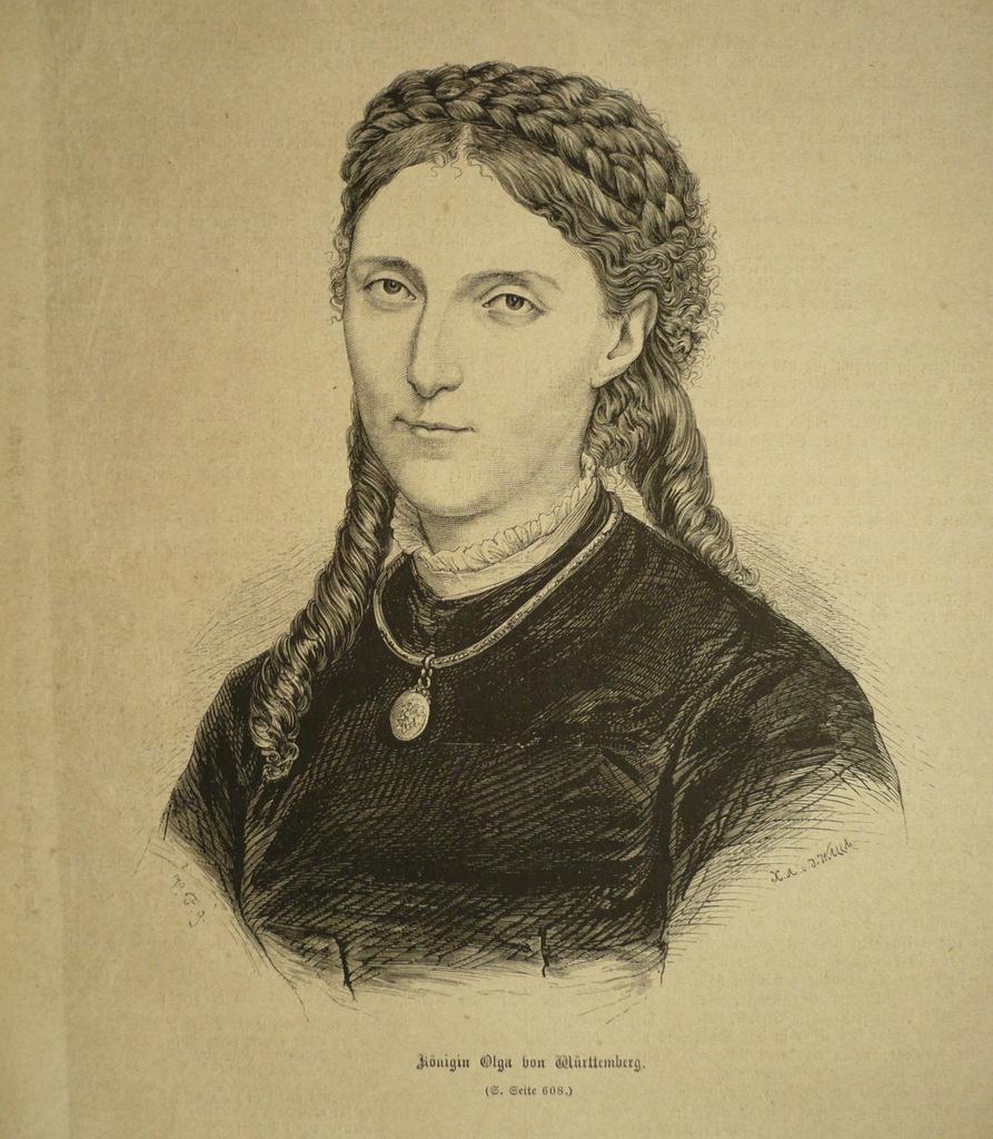 królowa Olga von Wurttemberg, oryg. 1871