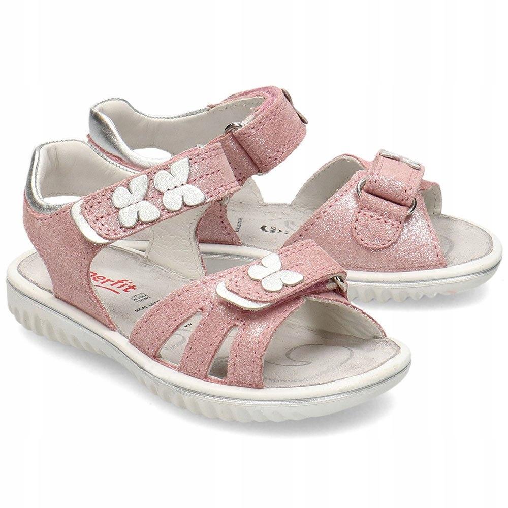 Superfit Sparkle Różowe Sandały Dziecięce R.29