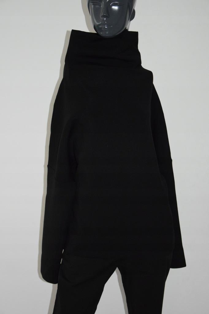 cos czarna bluza bluzka stójka wiskoza S/36 M