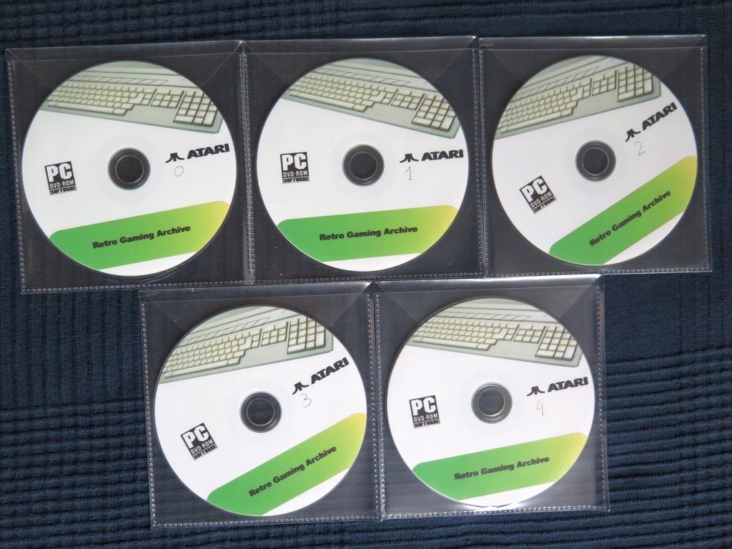 ATARI 5 płyt DVD - emulatory + 47 tys. plików