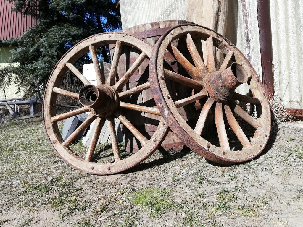 stare okute koło koła wóz żelażniak kwietnik fi75