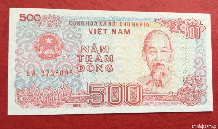 Wietnam 500 dong prosto z bankowej paczki dla WOŚP