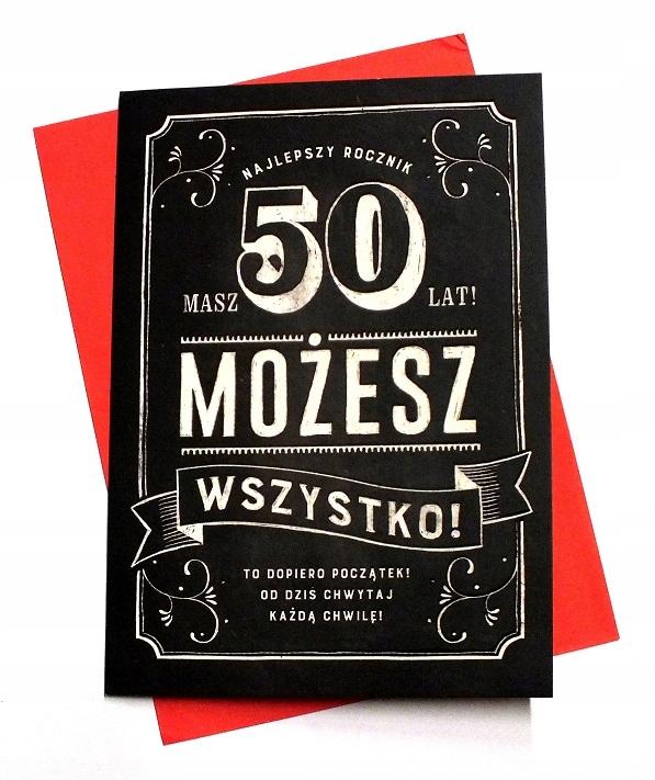 Kartka 50 Urodziny 50 Lat życzenia 50 Tka