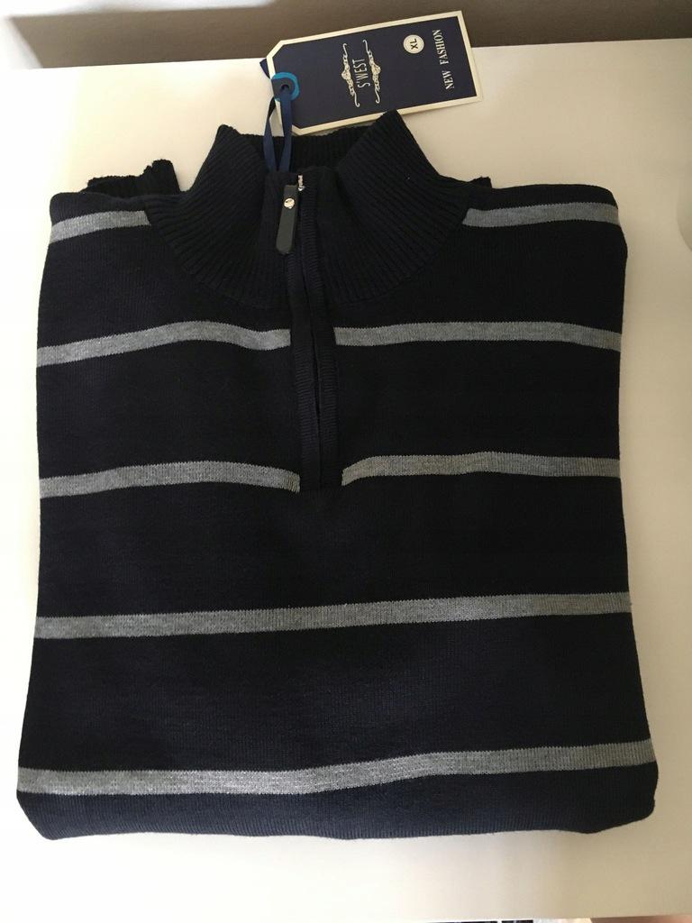 S'west sweter bluza męska XL nowa paski golf