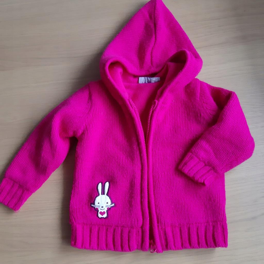 Śliczny sweter z ociepl 6-12 mcy 74/80 bdb+ Lupilu