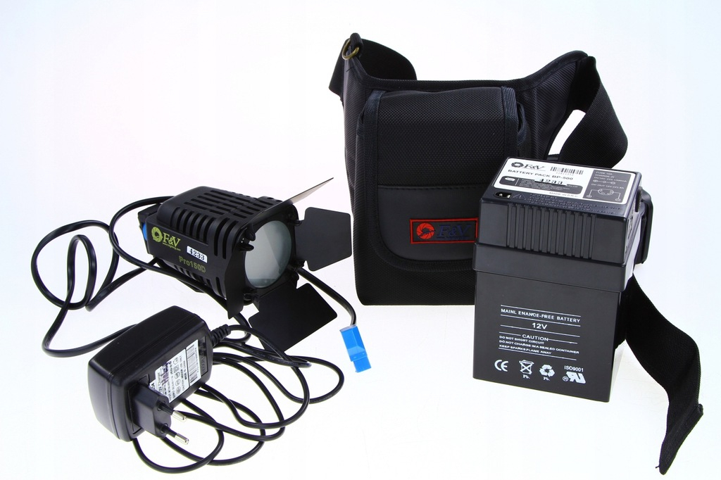 F&V PRO150D + Aku BP-500 Lampa światła ciągł.