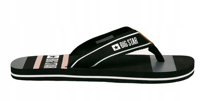 Japonki męskie BIG STAR klapki FF174460 czarne 44