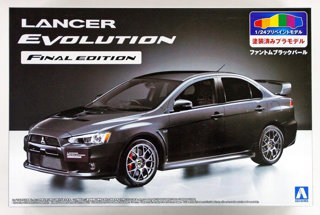 Aoshima Mitsubishi Lancer Evo X Pre Painted 1 24 8281790978 Oficjalne Archiwum Allegro