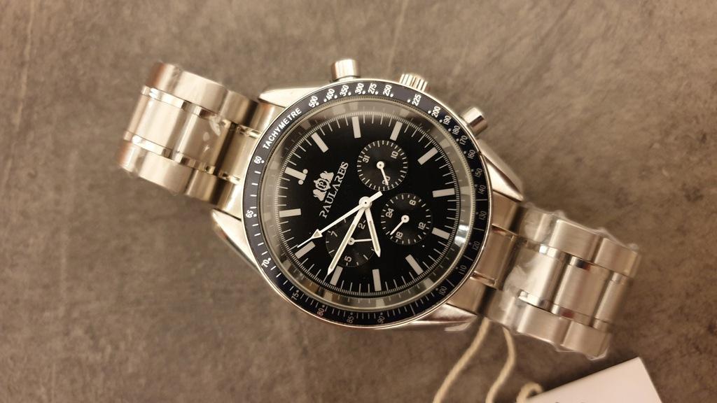 Zegarek automatyczny Paulareis jak Omega Moonwatch