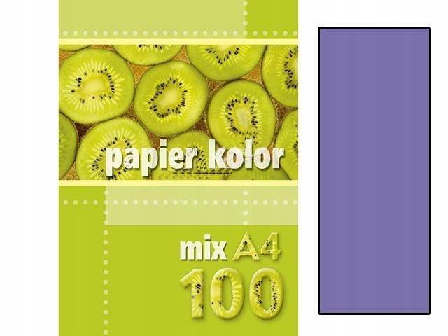 Papier kolor A4 80g/m2 fioletowy op. 100 ark., Kre