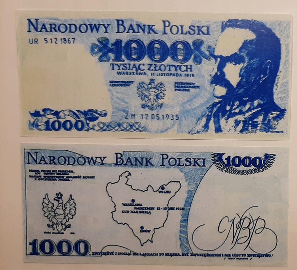 1000 zł Piłsudski SOLIDARNOŚĆ 11.11.1918 r.
