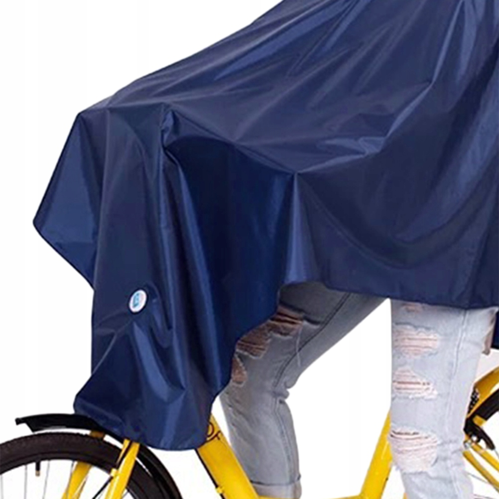 Men Women Bike Raincoat Thicken Waterproof Hooded