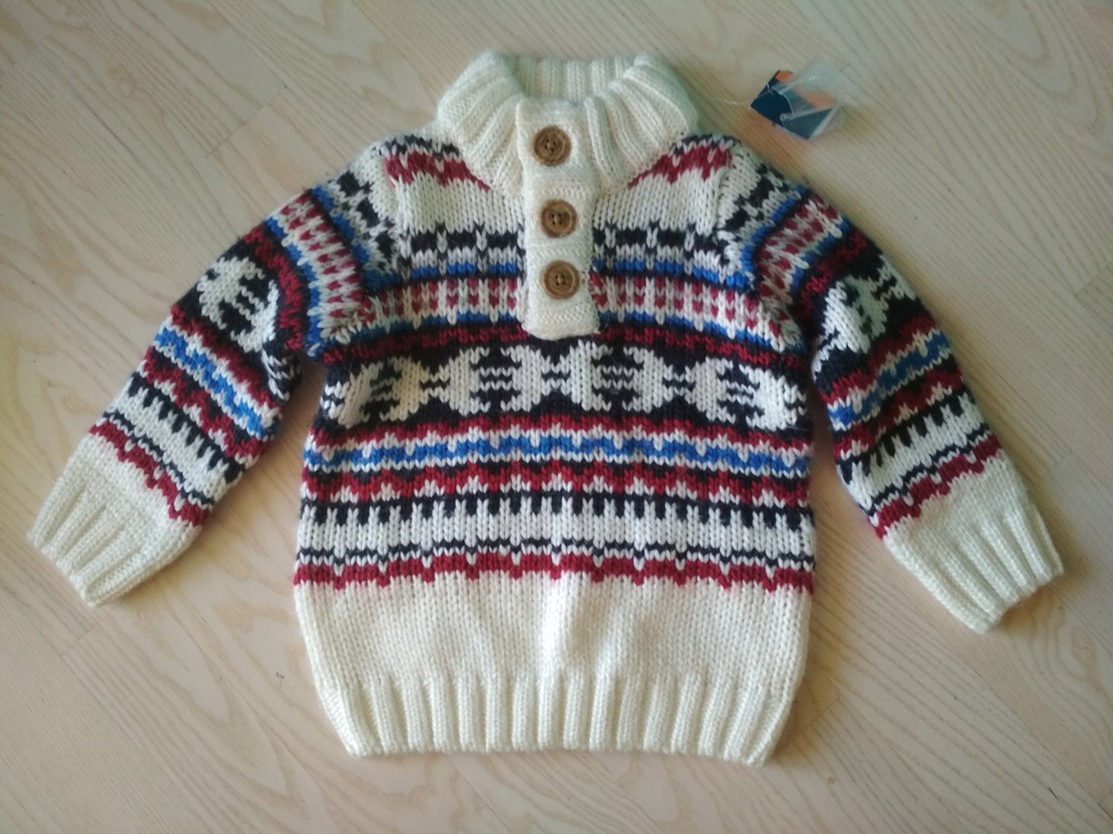 Sweter chłopięcy LUPILU 86 92 nowy z metką