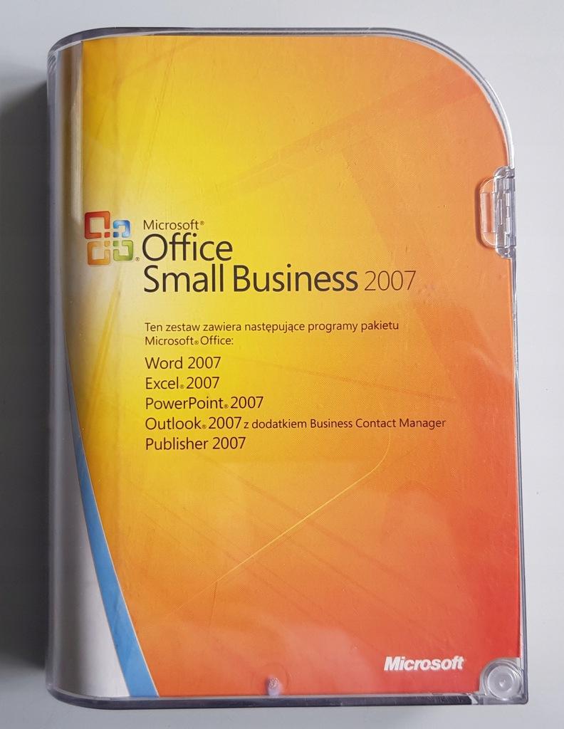 Microsoft Office 2007 Small Business BOX PL