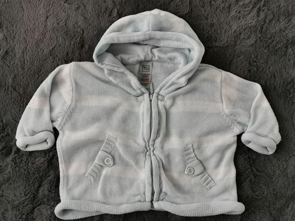 Sweterek z kapturem i długim rękawem rozmiar 56 TU