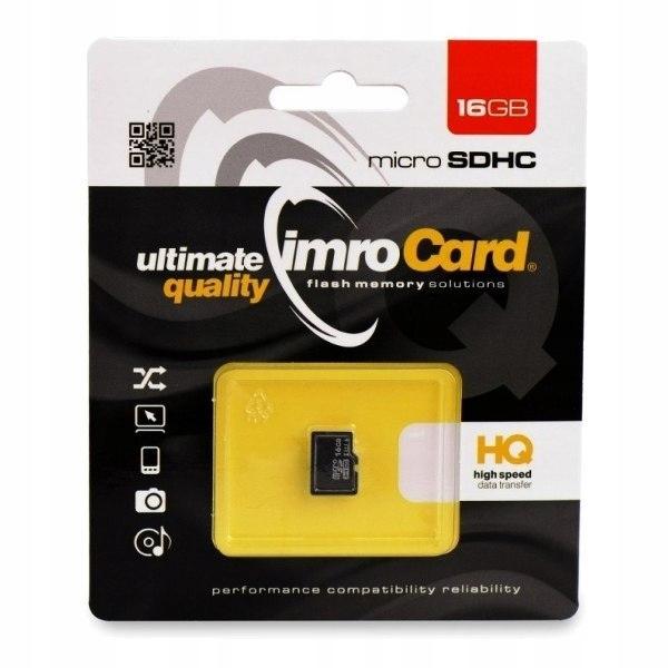 Karta pamięci microSD 16GB Imro bez adaptera