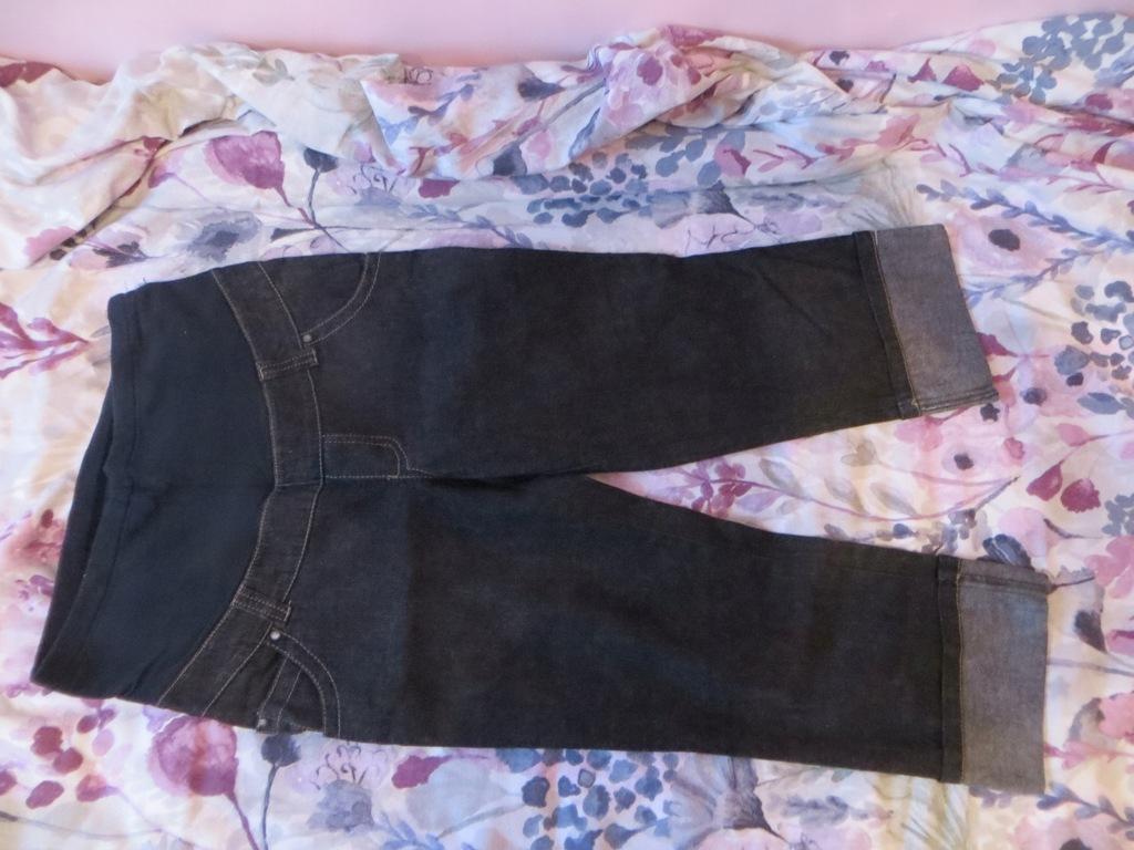 Spodnie ciążowe jeans rybaczki r. 40 L/XL