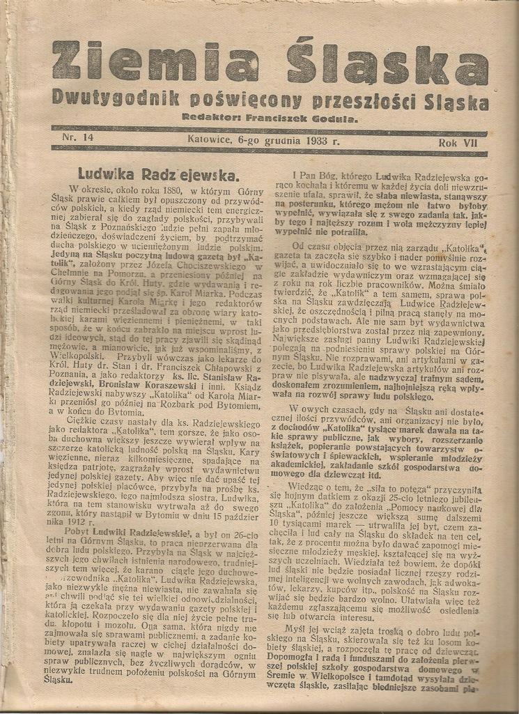 1933 WISŁA USTROŃ ZAOLZIE SIERAKÓW ŚLĄSKI