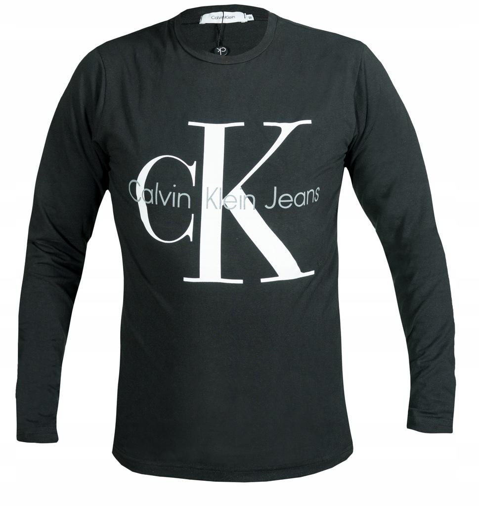 CALVIN KLEIN KOSZULKA MĘSKI CZARNY CK logo LONG XL