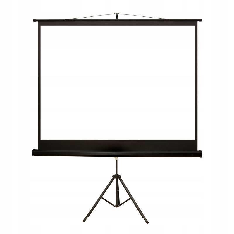Ekran projekcyjny na stojaku 4World na statywie 08