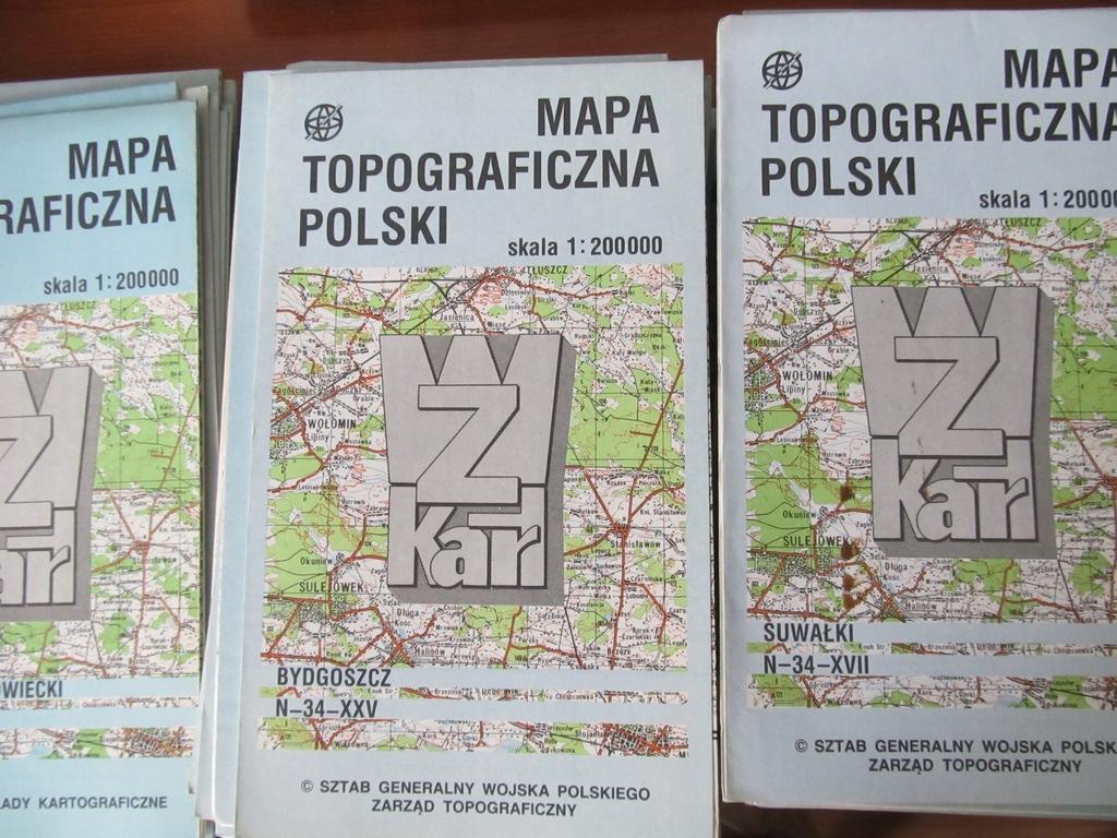Mapy topograficzne Polski Sztab Generalny 117 map