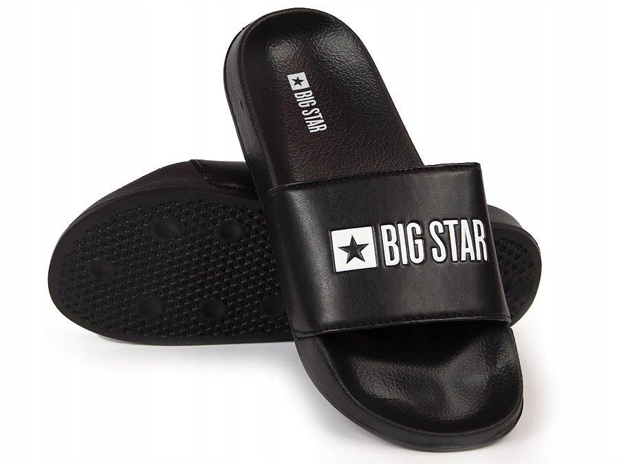 KLAPKI męskie SPORTOWE czarne BIG STAR GG174931 46