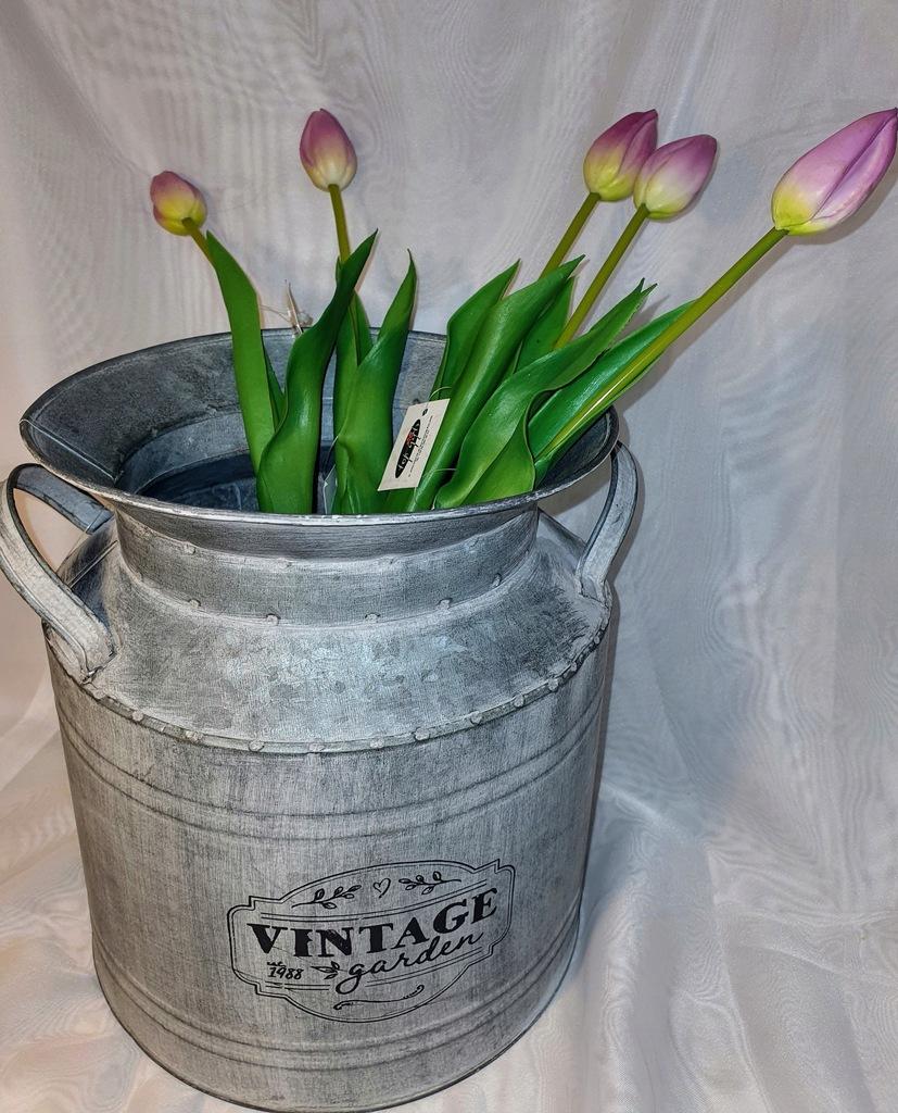 BIEL/FIOLET Tulipan jak żywa gumowy, 1 szt