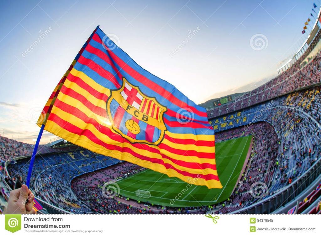 FC Barcelona flaga z meczu
