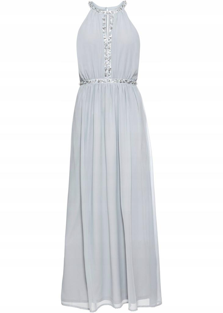F207 BPC Sukienka z dekoltem halter wieczorowa 38