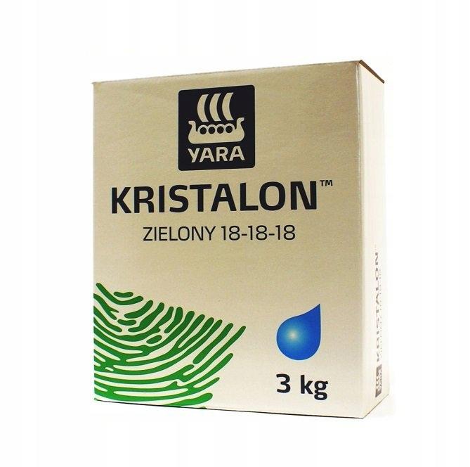 KRISTALON zielony 18-18-18 nawóz YARA 3 kg