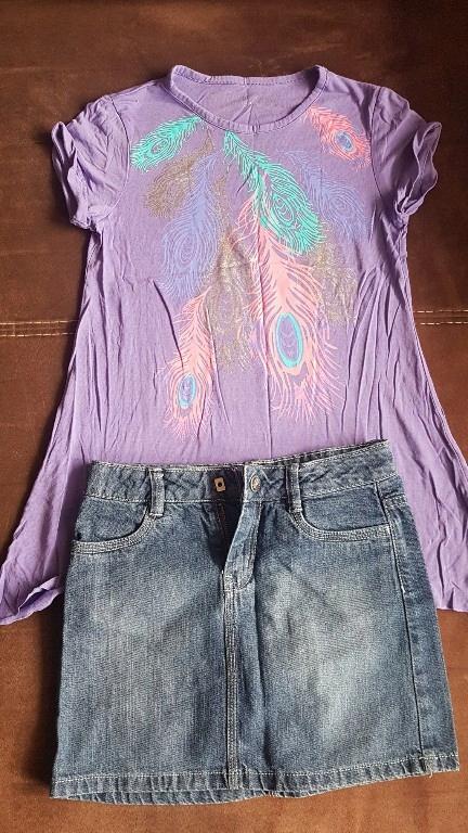 Spódniczka mini + bluzka