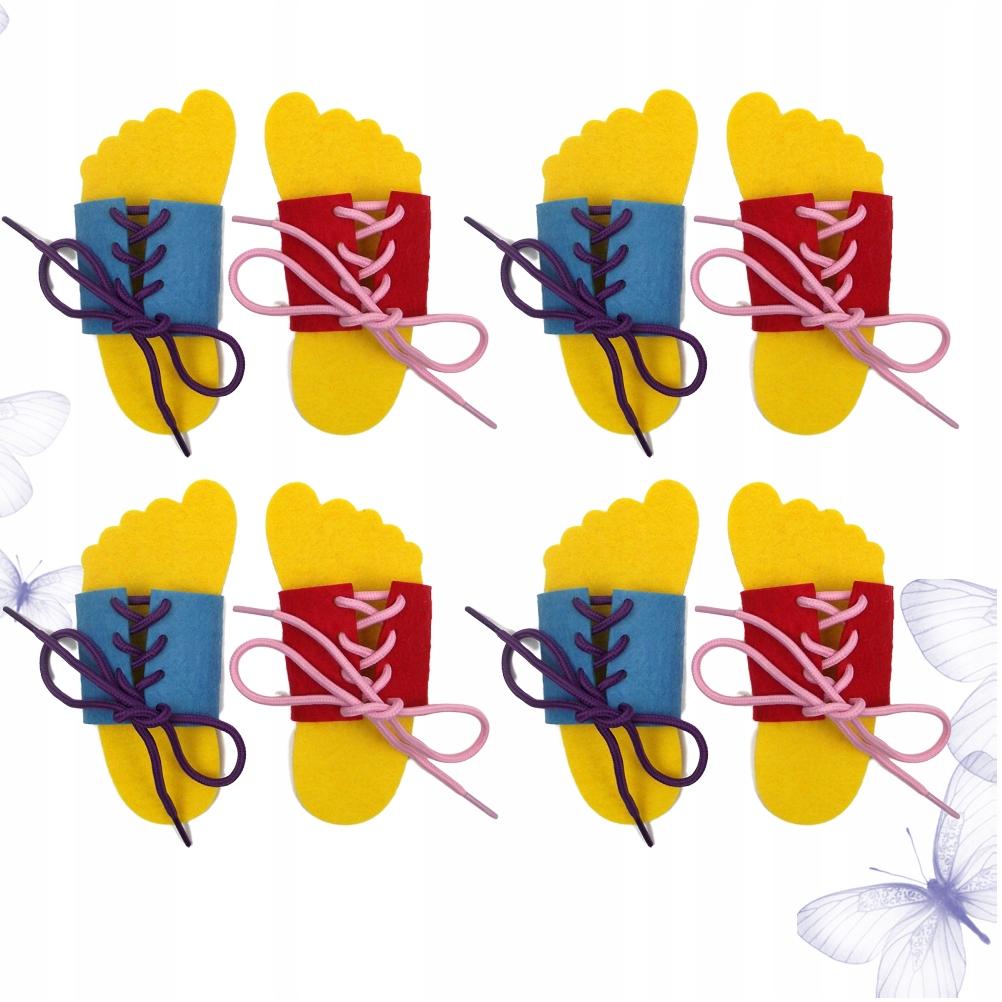 4 pary krawat sznurowadło praktyka gry zabawki kap