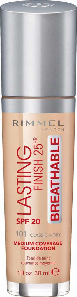 RIMMEL - Podkład Lasting Finish Breathable 101