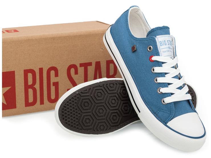 BIG STAR trampki męskie niebieskie T174108 41