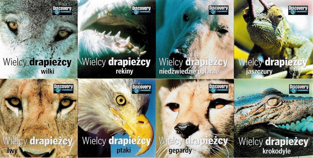 Wielcy drapieżcy - seria 8xVCD