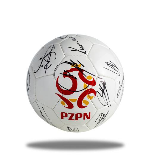 Piłka z autografami Reprezentacji Polski 2018