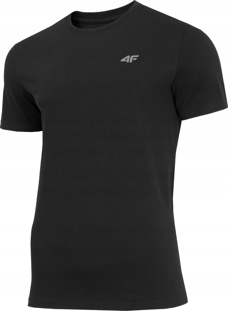 4f Koszulka męska H4Z19 TSM070 czarna r. XL