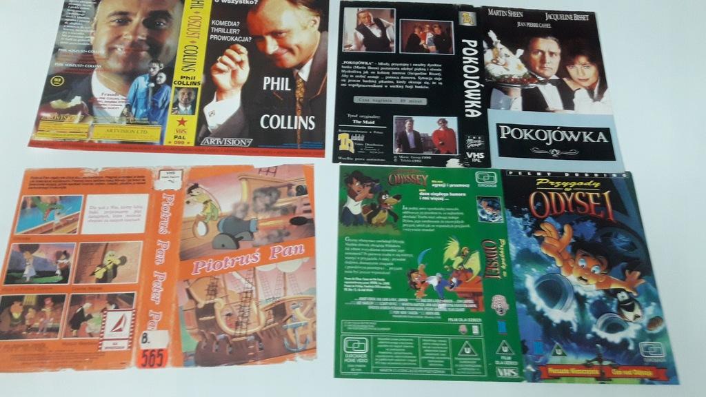 A-0843 pakiet 8 okładek kaset vhs