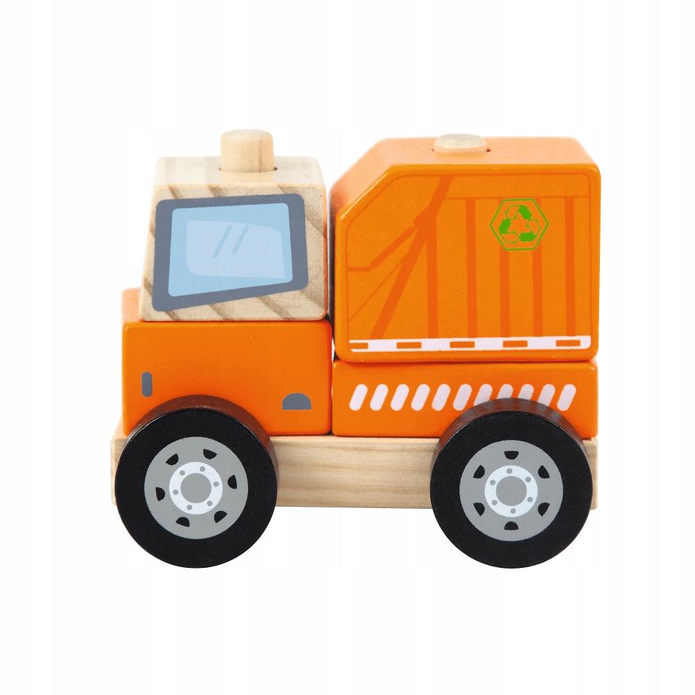 Śmieciarka Drewniana Autko Służby Trefl 61140