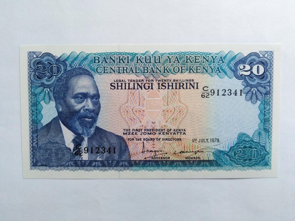 KENIA 20 SHILLINGI 1978 P17 (0-4138)