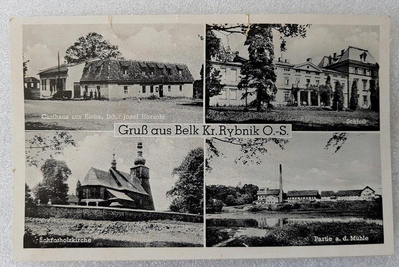 Pocztówka GruB aus Belk Kr.Rybnik O.-S. Rzadkość!!