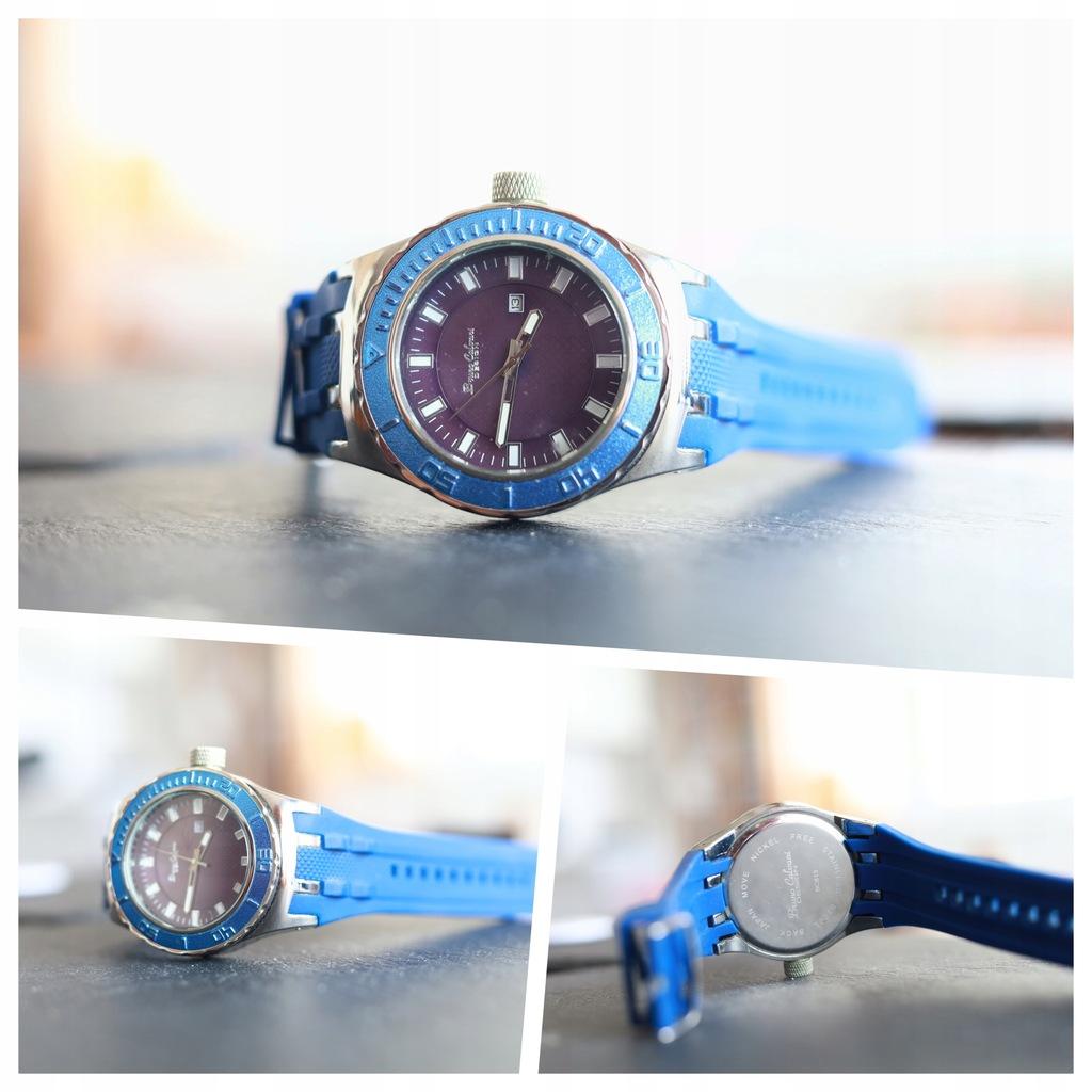 Zegarek Bruno Calvani Design, datownik niebieski