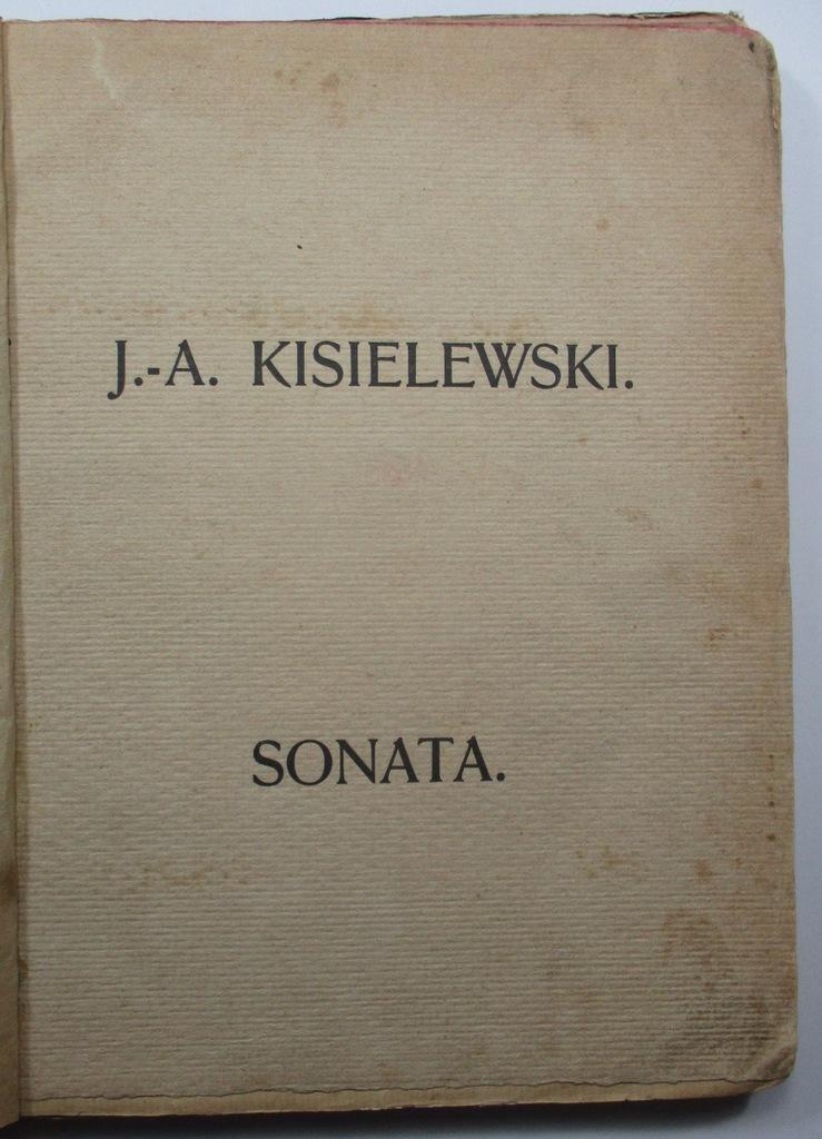 Sonata, Jan August Kisielewski, 1903, MŁODA POLSKA
