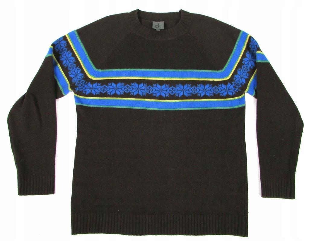 ** CALVIN KLEIN **__L__Modny, wełniany sweter