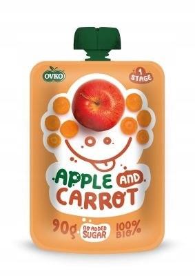 Przecier jabłko-marchew po 6 miesiącu życia BIO 90