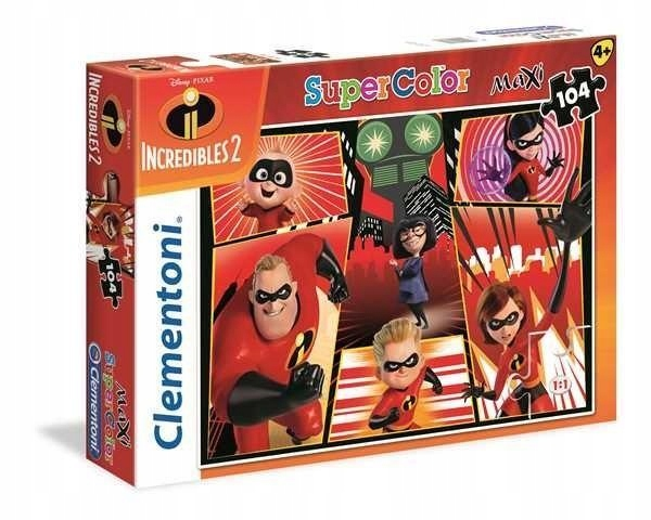 PUZZLE 60EL. MAXI SUPER KOLOR INCREDIBLES 2