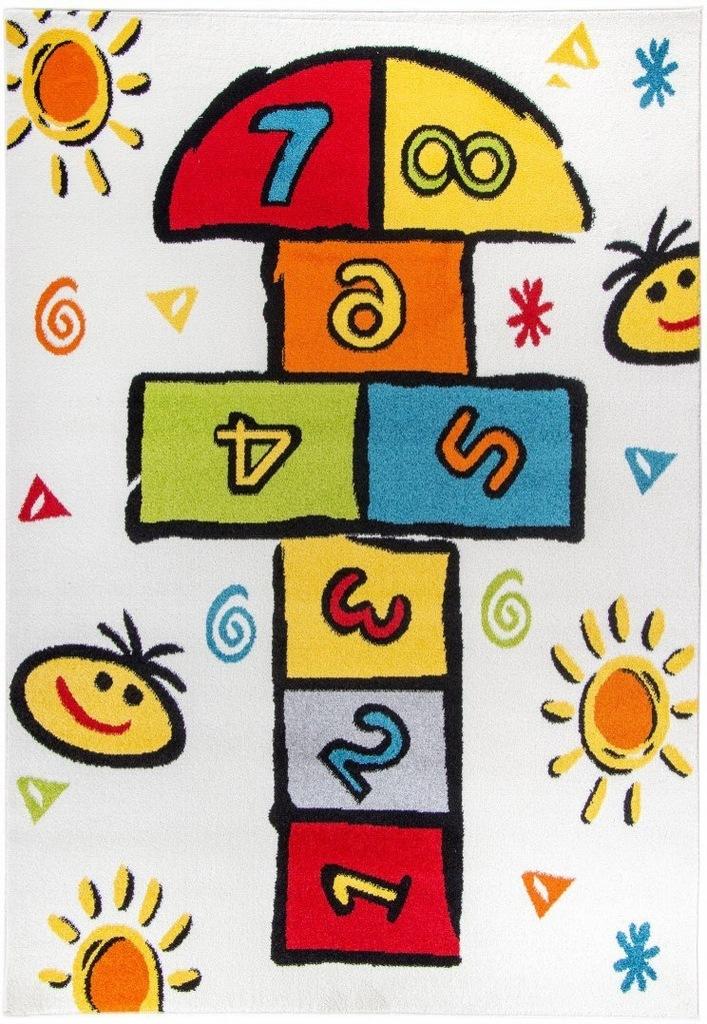 Dywan pokój dziecięcy gra w klasy 80x150 przytulny