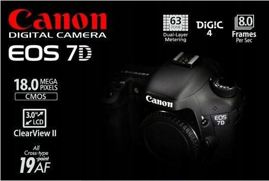 CANON EOS 7D 18Mp Body 91.000 zdjęć Grip 8GB FV 23
